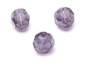 Crystal-Schliffperlen 10mm Strang , ca. 40 St, lila dunkel