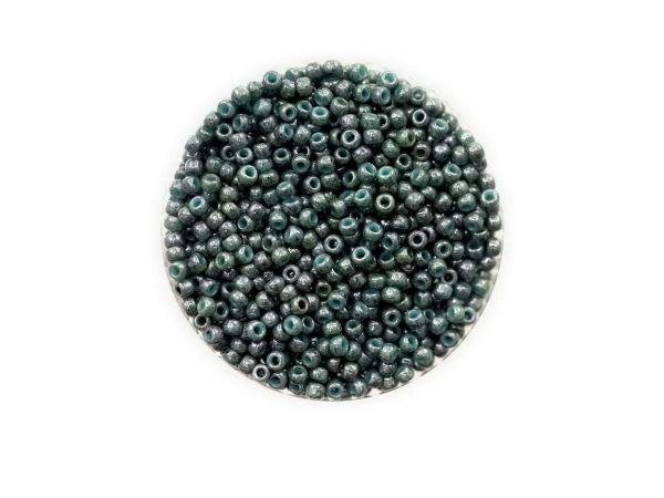 Toho Rocailles 11-0, ca. 2,1mm, 10g, TR1207 Marbled Opaque Turqouise-Blue