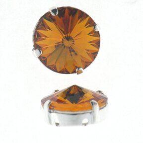 Kessel m.Swarovski-Crystal 14mm topaz