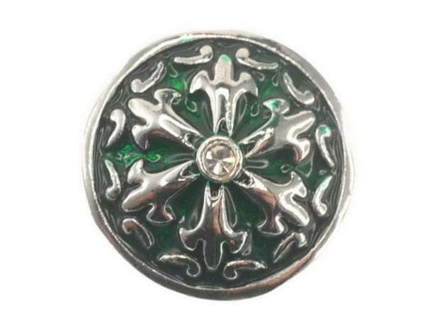 Click-it Button Lilie, 18 mm, grün