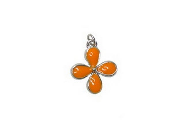 Anhänger Flower 16mm orange