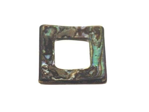 Perlmutt ''Abalone'' Quadrat 18mm''