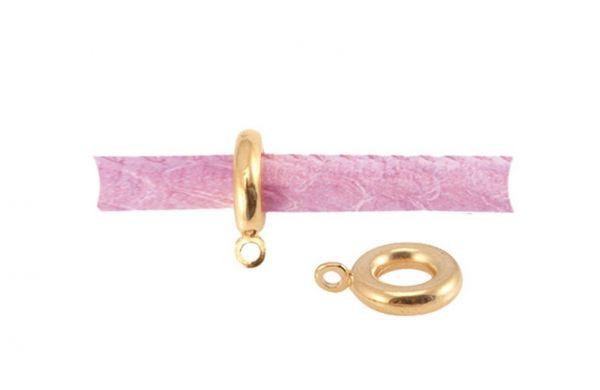 Ring mit Öse, 6mm, 1 Stück gold