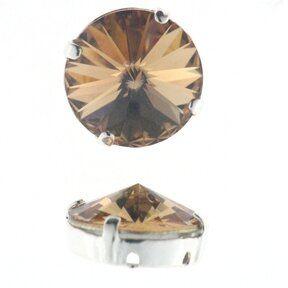 Kessel m.Swarovski-Crystal 12mm l.col.topas