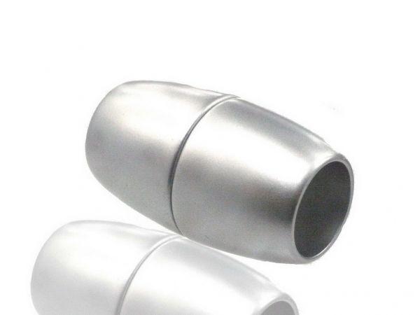 Magnetverschluss Jumbo-Powerclip DE, Olive 42x24mm silber matt