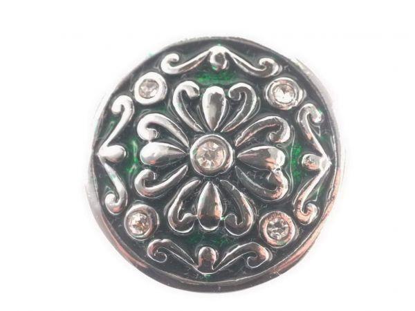 Click-it Button Blume, 18 mm, grün