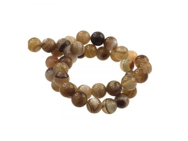 Achat gefärbt, Perle 10mm, Strang ca. 40cm, ca.38 Perlen braun