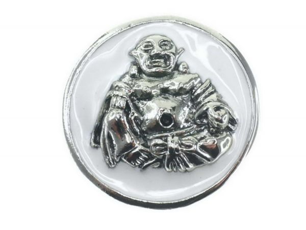 Click-it Button Buddha, 18 mm, weiß