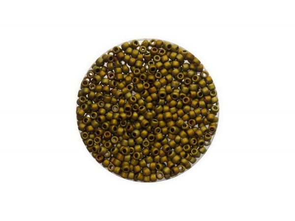 Toho Rocailles 11-0, ca. 2,1mm, 5g, TR513F Higher-Metallic Frosted Carnival
