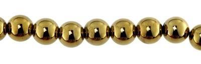 Magnetperle extra stark 8mm Strang 40 cm. ca. 50 Stck gold