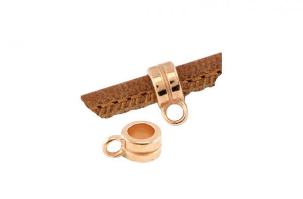 Ring mit Öse, 4mm, 1 Stück rosegold