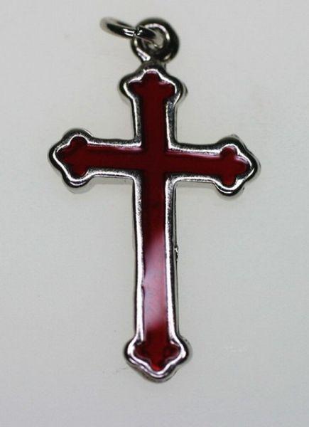 Anhänger Kreuz 28mm rot