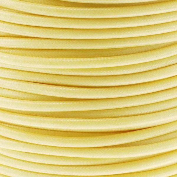 Textilschnur (Polyester) 3mm 1,00m Zuschnitt, gelb