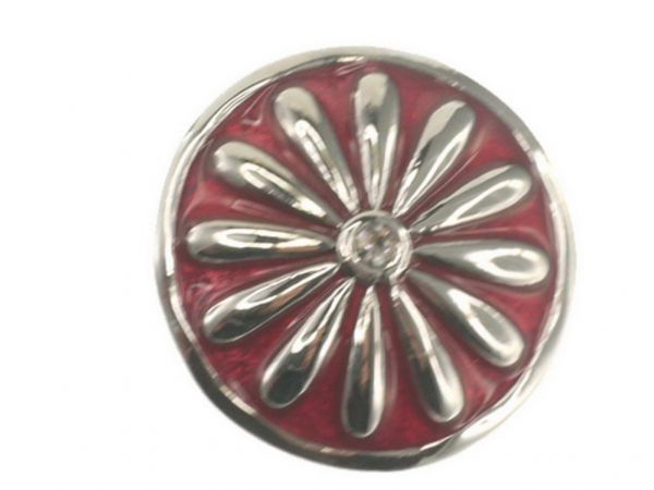 Click-it Button Margerite, 18 mm, rot