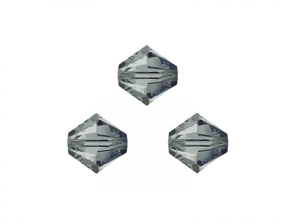 Swarovskiperlen, Doppelkegel, 5328, 3mm, 50Stück, black diamond