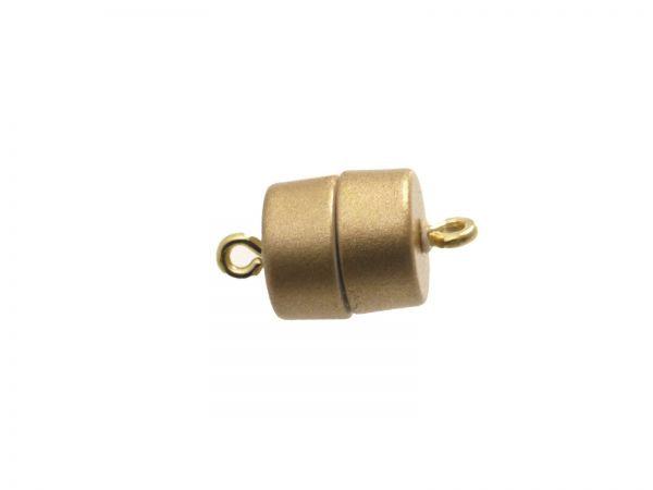 Magnetverschluss Powerclip DE, Trommel 9,5x10mm, gold matt