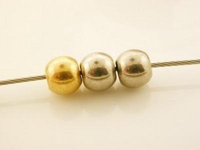 50 Stück Minimetallperle 8mm mattgold