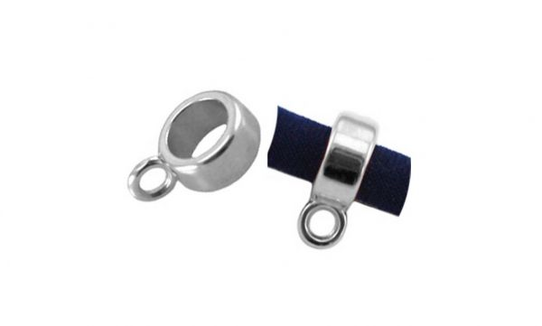 Ring mit Öse, 8x4mm, 1 Stück antiksilber