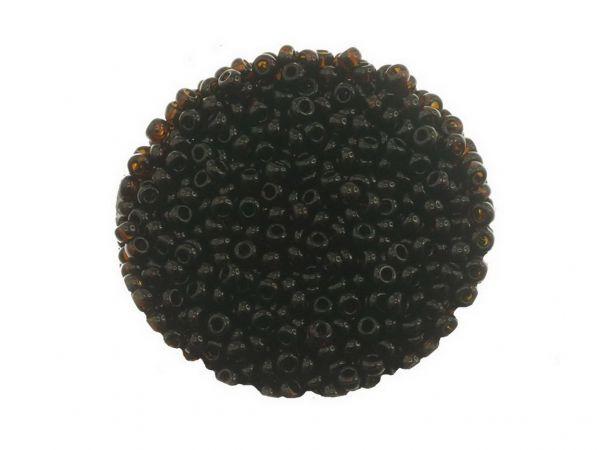 Rocailles, 2.6mm (9/0-10/0), transparent, 14g Döschen, braun
