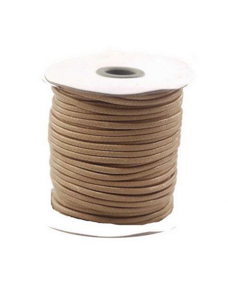 Textilschnur (Polyester) 3mm 1,00m Zuschnitt,hellbraun