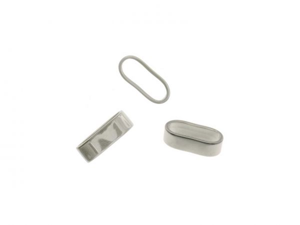 Edelstahl Schlaufe oval, 16x7mm, innen 14x4,5mm