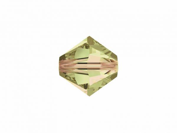 Swarovskiperle, Doppelkegel, konisch, 5328, 8mm, 10 Stück, Luminous Green
