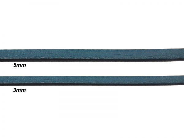 Lederschnur, flach, 3mm breit, 1mm dick, grün