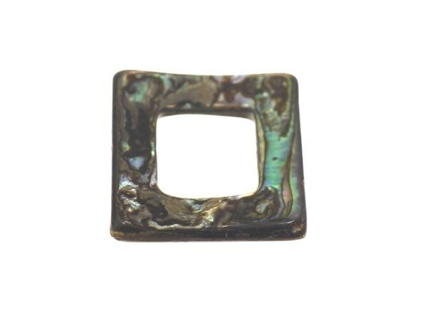 Perlmutt 'Abalone' Quadrat 18mm'