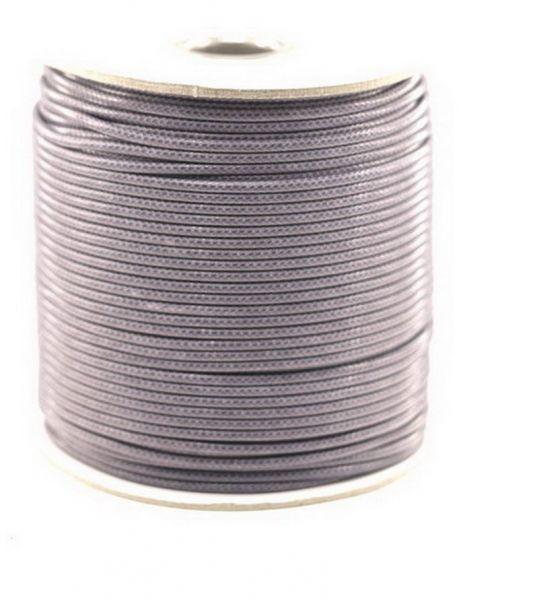 Textilschnur (Polyester) 3mm 1,00m Zuschnitt, grau