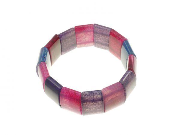Edelsteinarmband Webachat gefärbt, ca.21cm, lilatöne