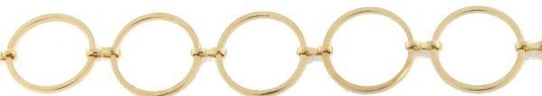 Multi Collier Schmuckkette, rund 15mm, goldfarbig 1,00m