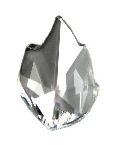 Swarovski Leaf Pendant 26x16mm crystal