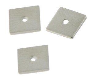Metallquadrat 7,8x7,8mm rhodiumfarbig