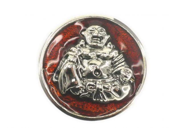 Click-it Button Buddha, 18 mm, braun