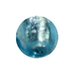 Glasperle Silverfoil, Strang 40 cm,ca.50 Stck Perle 8mm, aqua