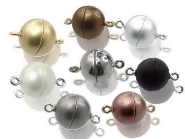 Magnetverschluss Powerclip DE, rund 10mm, 9 Stück, farbig gemischt