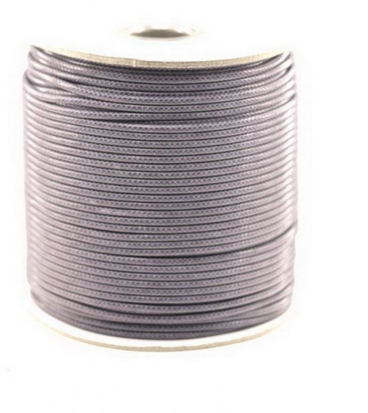 Textilschnur (Polyester) 3mm 45m Rolle, grau