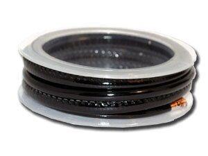 Kunstlederschnur 6mm gesäumt, ca.1,3m, schwarz glänzend
