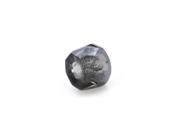 "Böhmische Glasperle ""Magic""Trommel 6x9mm Bohrung 3,5mm black diamond"