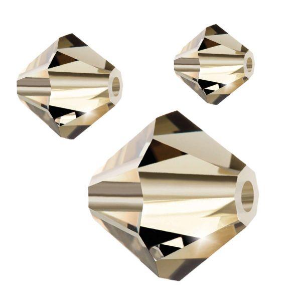 Preciosa Kristall Doppelkegel 6mm 20St., black diamond