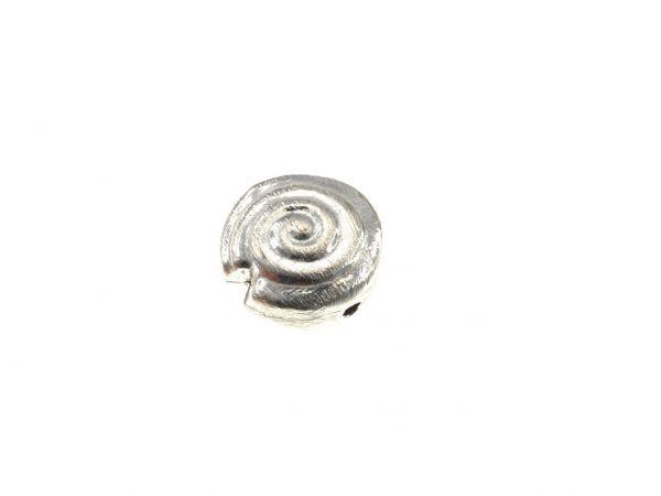25 Stück Silbereffekt Element Schnecke 20mm, Bohrung 2,5mm