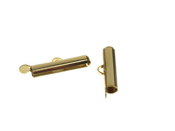 Kettensteg color, außen 15x4mm, innen 3mm, gold