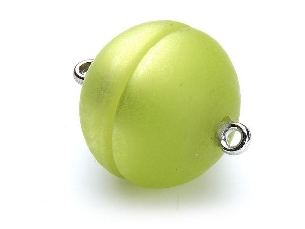 Polaris Magnetverschluß 20mm rund matt apfelgrün