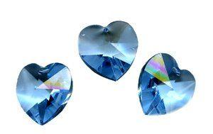 Swarovski - Crystal Herz, 18 x 17,5 mm, aqua