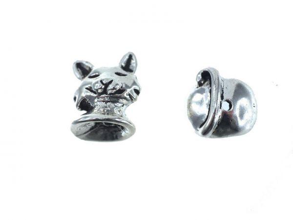 10 Stück Perlenfiguren Katze ca.13mm 2-teilig