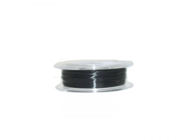 0,6mm Schmuckdraht, nylonummantelt, 100m Rolle schwarz