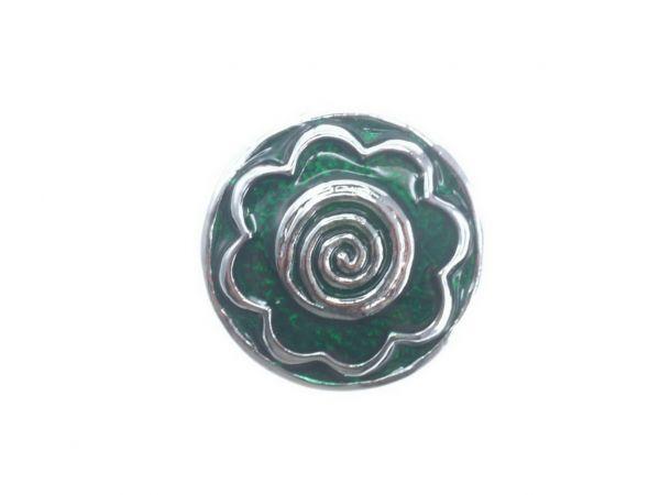 Click-it Button Veilchen, 18 mm, grün