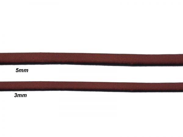 Lederschnur, flach, 5mm breit, 1mm dick, braun