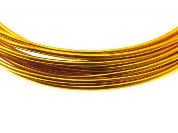 Aluminium Draht, 2mm, 6,00 m, gold