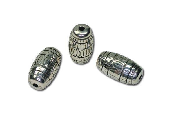20 Stück Metalleffektperle Trommel 20x10mm